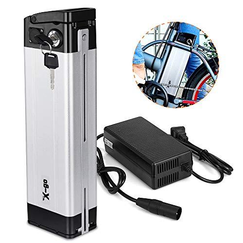 Batterie X-go Batterie électrique vélo 36v Batterie 36 V Batterie 10 Ah Lithium Ion Batterie pour E-Bike Pedelec et chargeur