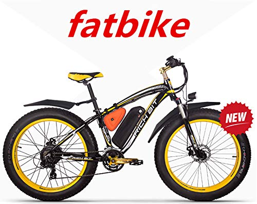 RICH BIT ZDC-022 1000W 48V 48V 17AH Vélo électrique pour vélo, avec garde-boue, jaune