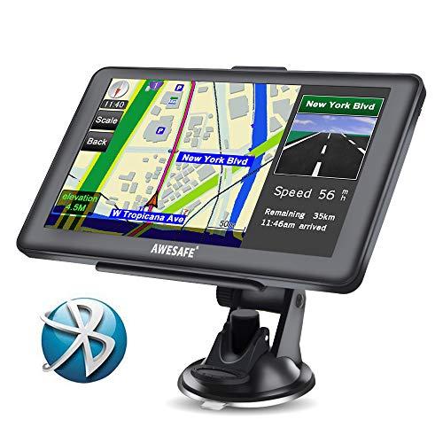 GPS pour voiture 7' écran Nüvi avec carte Bluetooth gratuite de l'Europe toute la vie