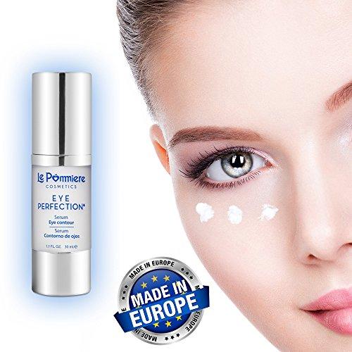 Sérum contour des yeux 30ml avec acide hyaluronique et collagène. Crème anti-âge à la vitamine B5 du panthénol pour une peau douce et lisse. Anti-rides hydratant à l'élastine, glycérine pour poches et cernes.