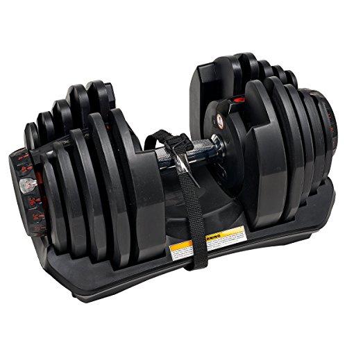 Bowflex SelectTech 1090i haltères de ménage réglables, Unisexe adulte, rouge, noir, gris, taille unique