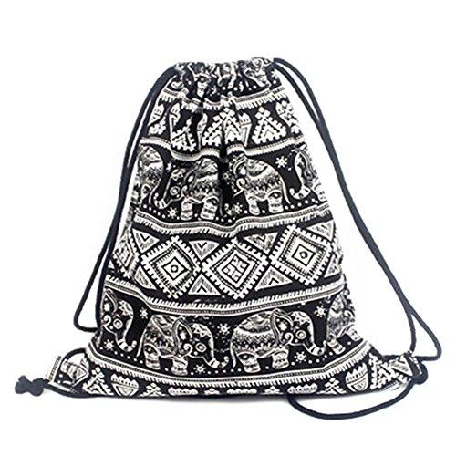 Sac à bandoulière pour femmes sac à dos sport sac à dos en toile Sac de voyage de loisirs pour filles - Carte géométrique