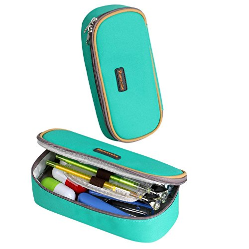 Étui pour l'école Homecube, porte-stylo pliable/ Papeterie idéale pour les élèves (couleur verte)