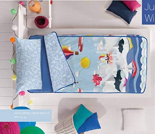 Couette Manterol Duvet Hiver Intérieur Sac Coraline Ballons et Voile avec rembourrage inclus, modèle 596 pour lits de nid et lits superposés de 90cm.