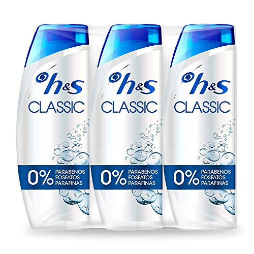 Head & Shoulders Classic - Shampooing antipelliculaire, 3 x 540 ml