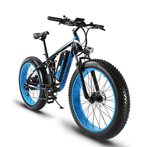 Extrbici Extrbici XF800 1000W 48V13AH Vélo de montagne électrique à suspension double (bleu) pour hommes 193 x 630 x 111cm bleu