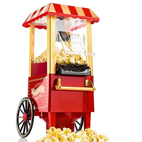 Gadgy Vintage Popcorn | Popcorn Machine | Huile sans graisse à air chaud
