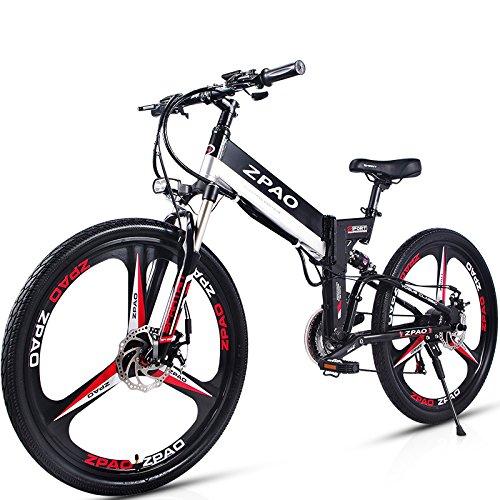 GTYW Vélo électrique pliable 26 pouces Vélo de montagne électrique Vélo électrique au lithium Vélo électrique au lithium Vélo électrique pliable pour adulte Mini vélo électrique pliable 90 Km Durée de vie de la batterie, noir-180*102*65cm