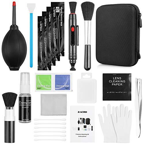 Zacro 49 en 1 Kits de nettoyage professionnel Reflex pour appareils photo Reflex et objectifs optiques reflex numériques Rebel EOS, Olympus, Sony Alpha NEX, NX, NX, boîtier étanche noir