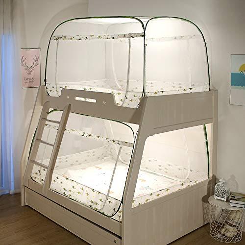 LM-BBQ Chambre avec lits superposés pour enfants Lit moustiquaire avec auvent Lit moustiquaire avec auvent Carré supérieur Type yourte Moustiquaire mongole Moustiquaires de parking avec 3 ouvertures Libres chimiquement