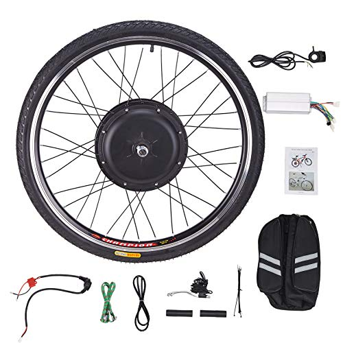 CO-Z 26' 48V 48V 1000W Kit de conversion de moyeu de vélo électrique Kit de conversion de moto de bricolage Kit de conversion de roue de moto Cube de roue (roue avant)