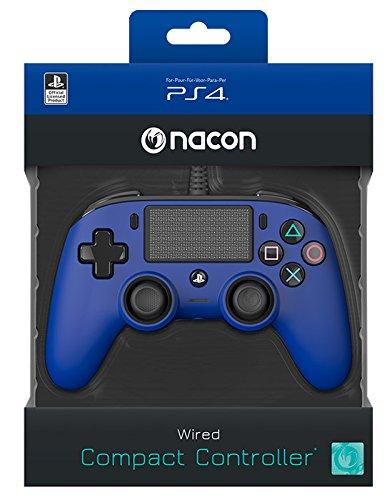Nacon - Contrôleur compact pour PS4, couleur Bleu