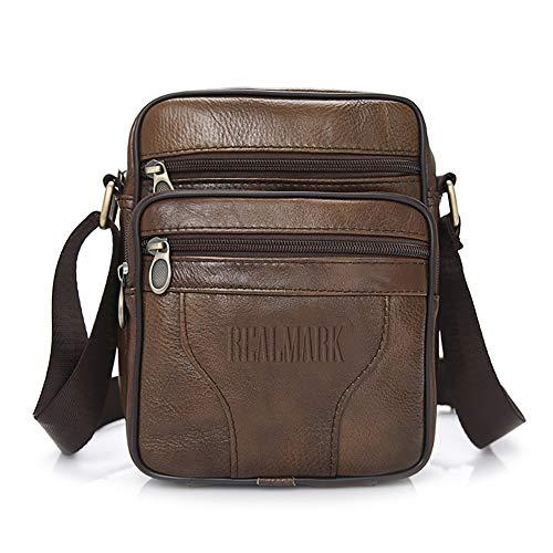 Realmark-Bag sac à bandoulière en cuir véritable pour homme, sac d'affaires