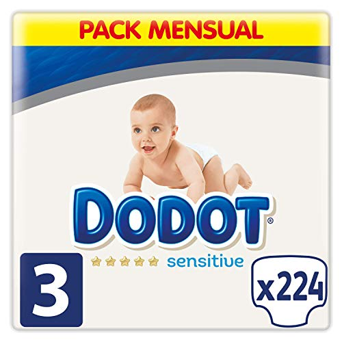 Dodot Sensitive - Couches Taille 3, 224 Couches, 6-10 kg
