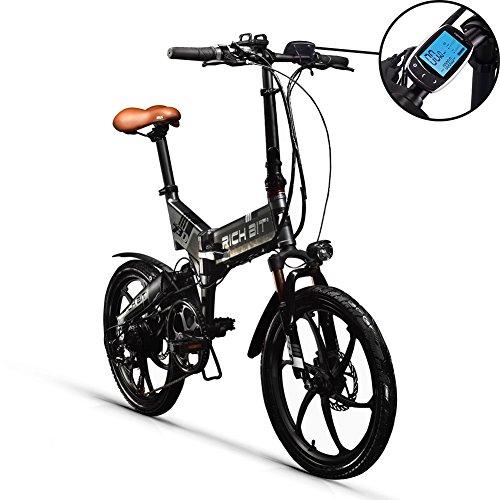 RICH BIT RT730 Vélo électrique RT730 Vélo électrique LCD Vélo intelligent Vélo pliable intelligent Vélo eBike 250W * 48V * 8Ah Li-battery Disk Brake City 20 pouces Shimano 7 vitesses