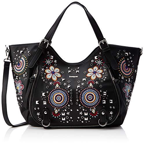 Desigual - Sac Apolo Rotterdam Femme, Shoppers et sacs à bandoulière Femme, Noir, 15x30x31 cm (L x H T)