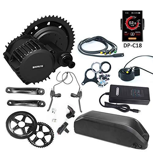 Bafang BBS02 48V750W Kit de conversion pour moteur électrique de bicyclette avec batterie lithium-ion 48V 17.5AH et chargeur 2A.