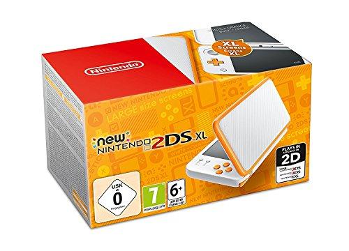 Nintendo New 2DS XL - Console portable, couleur blanche et orange