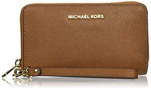 Michael Kors - Jet Set Travel Large Smartphone, Sac à main femme, Rot (Rouge vif), 2.5x11.4x21.6 cm (L x H T)