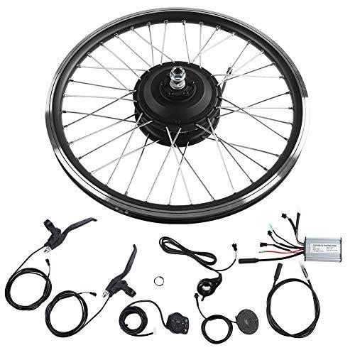 Ensemble de roues de bicyclette électrique Bnineteam 24V 250W, affichage DEL de 20' à l'avant et à l'arrière Kit de conversion de bicyclette de route à moteur E-Bike à roues avant et arrière (moteur arrière)