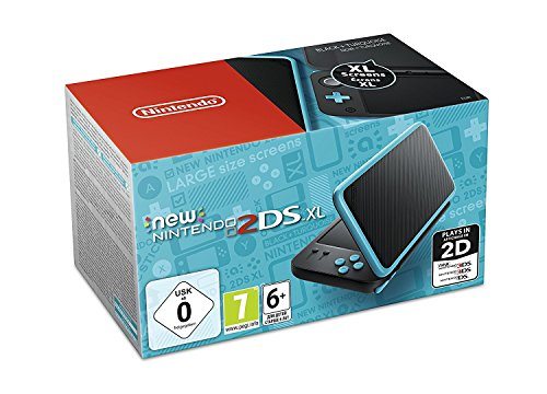 Nintendo New 2DS XL - Console portable, couleur noire et turquoise