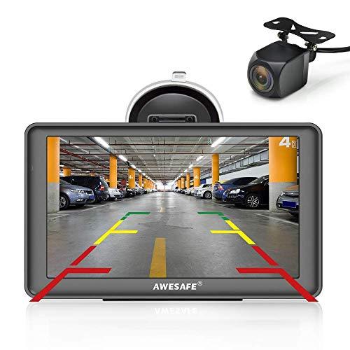 Écran LCD Bluetooth Bluetooth 7 pouces pour voiture avec caméra de recul, navigateur GPS pour voiture et camion avec mise à jour des cartes à vie