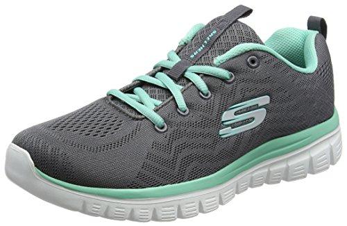 Skechers Graceful-Get Connected, Chaussures de course pour femmes, Gris (gris/turquoise), 39 EU