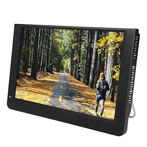 Garsent 12 pouces TV numérique portable, DVB-T/T2 1080P 16 : Mini TV 9 LED VGA/AV/HDMI/USB/SD/MMC Port compatible avec adaptateur allume-cigarette pour voitures domestiques, 110-220V
