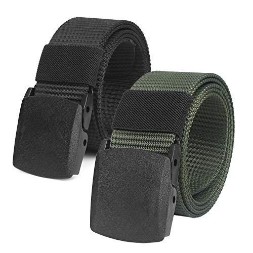 Ceinture de ceinture tactique militaire ajustable pour hommes Ceinture en toile de nylon Boucle de plastique en nylon