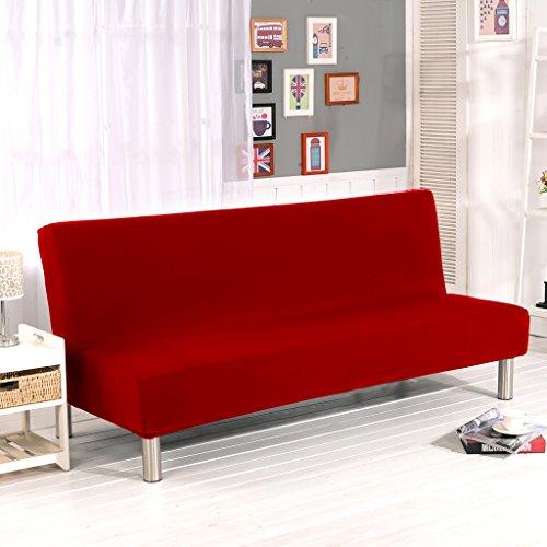 Etui Clic-clac en plastique de Cornasee, housse de canapé 3 places, Couleur unie, Rouge