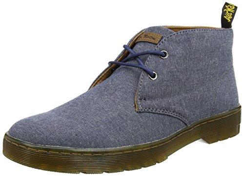 Martens Mayport - Chambray sergé véritable bleu marine, bottes pour hommes du désert, bleu, 40 EU