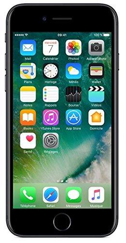 Apple iPhone 7 Smartphone Gratuit Noir 32Go (Remis à neuf)
