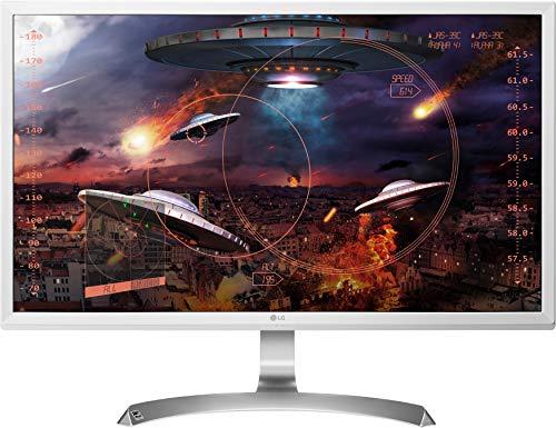 LG 27UD59-W - Moniteur 4K UHD 27' (68,6 cm) avec panneau IPS (3840 x 2160 pixels, 16:9, 250 cd/m², NTSC 72%, 1000:1, 5 ms, 60 Hz) couleur blanc
