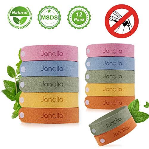 Bracelet anti-moustiques Janolia, 12 Bracelets anti-moustiques, Bracelets pour sports et activités de plein air, Naturel, Matériaux ajustables pour enfants et adultes