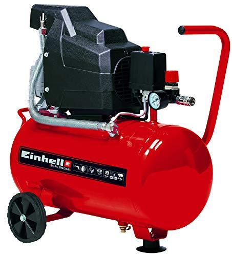 Einhell TC-AC 190/24 - Compresseur, réservoir 24 l, 2850 tr/min, 8 bar, 1500 W, 220 V, rouge et noir (réf. 4007325)