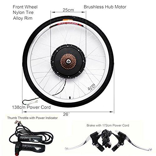 OUKANING - Kit de conversion pour moteurs électriques de bicyclette, 48 V, 1000 W, 26 pouces Vitesse