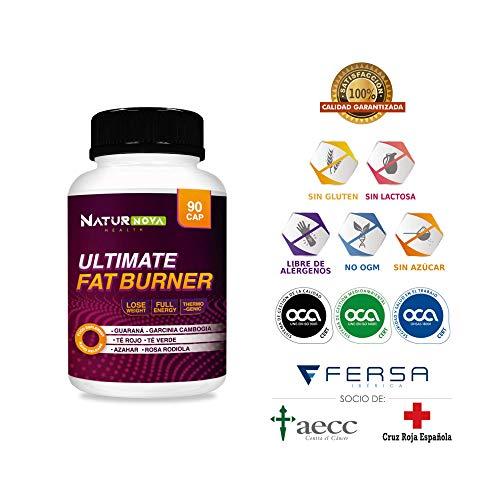ULTIMATE FAT BURNER - Quemagrasas | Thermogénique | Réducteur et Stimulant de l'Appétit | Stimulant du Métabolisme | Formule exclusive minceur et efficace | Ingrédients naturels - 90 Caps.