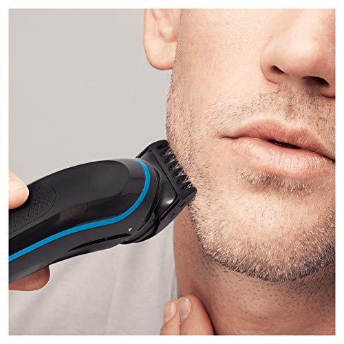 Braun MGK5080 Tondeuse tout-en-un 9 en 1, tondeuse à barbe et tondeuse à cheveux, noir / bleu