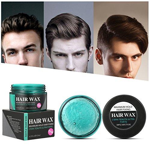 Cire à cheveux - Luckyfine Cire à cheveux pour hommes - Pommade fixante - Crème à mouler - 4.23 onces, 120 ml