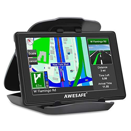 Écran LCD GPS 5 pouces pour voiture, voiture avec navigation par satellite et navigateur GPS pour camion avec mise à jour des cartes à vie