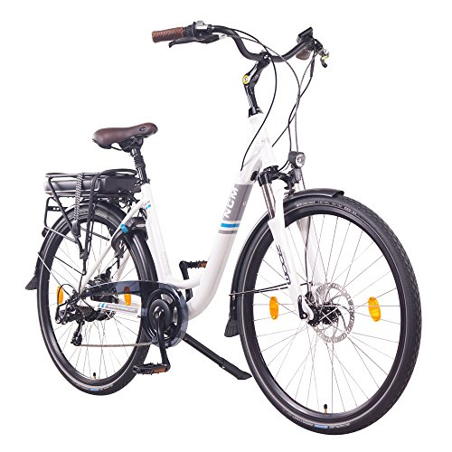 NCM Munich Electric Urban Bike, Ride Bike, 250W, Batterie 36V 13Ah 468Wh, (28' Blanc)