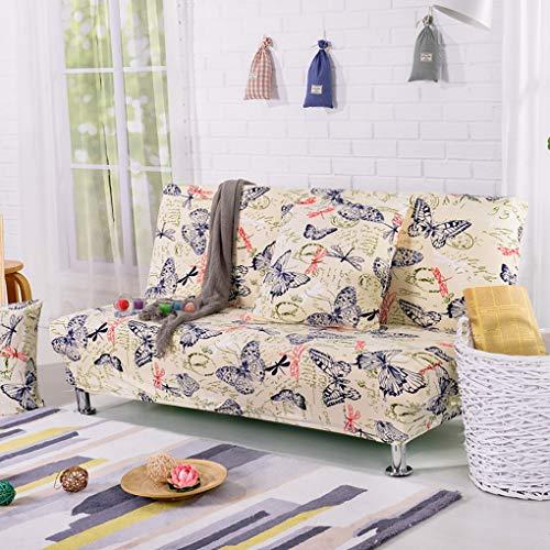 ZX Housse de canapé sans accoudoirs, Clic Clic Clic Housse de canapé ou housse de lit imprimé floral élastique, Housse de canapé Protecteur de Futon, 17,L