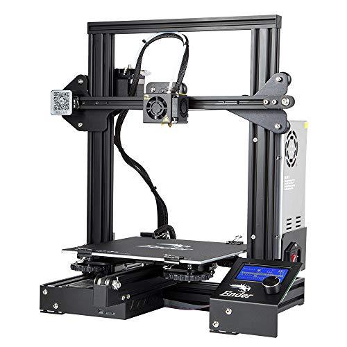 Comgrow Creality 3D Ender 3 Imprimante 3D Aluminium DIY avec reprise d'impression 220 * 220 * 250mm