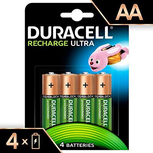Duracell Ultra - Piles rechargeables AA 2500 mAh, paquet de 4 unités
