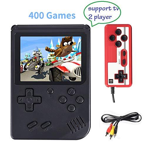 Console de jeu portable, 3 pouces Console de jeu 400 Jeux Retro FC Game Player Console de jeu Classic Game Console 1 Charge USB, Support pour deux joueurs, Cadeau d'anniversaire pour les enfants Parents Amis