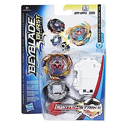 Hasbro Beyblade Burst E1034EL2 Starter Strike Pack Genesis Valtryek V3 RD, Kreisel