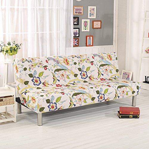 Fastar Housse Clic-clac élastique, Housse de canapé 3 places, imprimé floral (E)