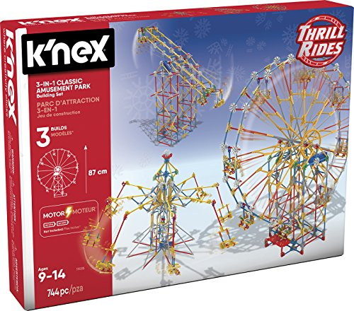 K'Nex Knex Knex Thrill Rides 3 in 1 Parc d'attractions : Noria + Flying Chairs + Pendulum 744 Toy Factory Parts 41230