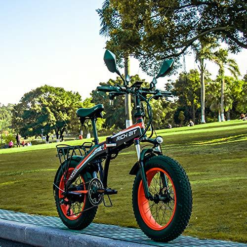 Rich bit RT-016 vélos électriques RT-016 20'E-Bike pliable 500W * 48V * Frein à disque mécanique 9.6Ah avec LCD et accélérateur (orange)