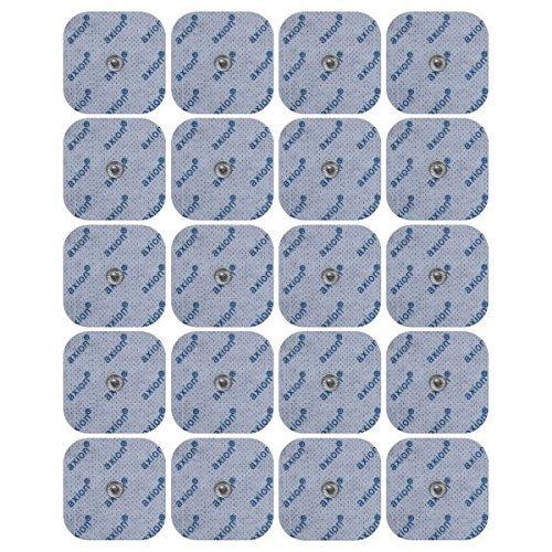 20 Electrodes pour VITALCONTROL BEURER - Jeu de patches TENS EMS taille universelle - pour électrostimulateurs connexion bouton 3.5mm - pads qualité axion